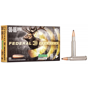 Federal Premium Vital-Shok Rifle Ammunition .30-06 Sprg 165 gr BTSP 2800 fps – 20/box