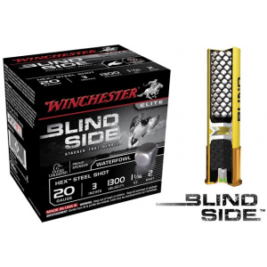 Winchester Blind Side Hex Shot 20 ga 3″ 1 1/16 oz #2 1300 fps – 25/box