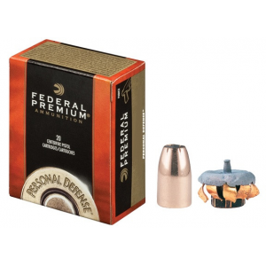 Federal Premuim Personal Defense Handgun Ammunition 9mm Luger 147 gr JHP 1000 fps 20/box