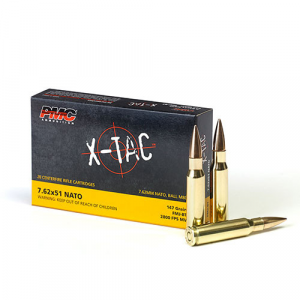 PMC X-Tac Rifle Ammunition .308 Win (7.62×51) 147gr FMJ-BT 2800 fps 20/ct