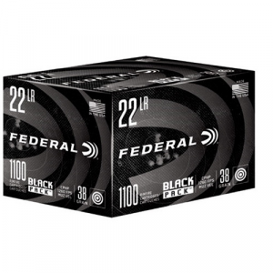 Federal Black Pack Rimfire Ammunition .22LR 38gr CPHP 1260 fps 1100/ct