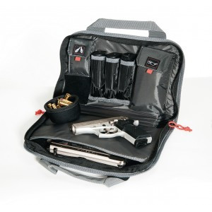 "G-Outdoors Double ""Compact"" Pistol Case – Black"