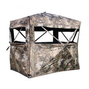 Muddy Outdoors The Garage 4×6 Hub Ground Blind with Wheel Chair Accessible Entrance