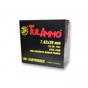 TulAmmo Rifle Ammunition 7.62x39mm 122 gr FMJ 2396 fps 1000/ct Case