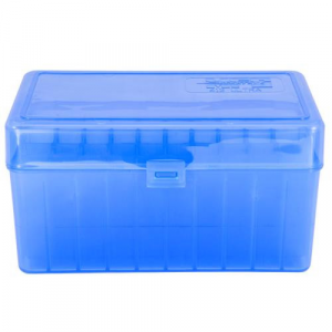 Berry's Mfg 412 Blue Ammo Flip Top Box Holds 50 Rounds – .300 Ultra