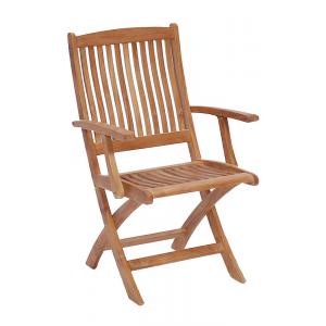 Casual Classics Mulia Teak Martin Folding Arm Chair NO COLOR