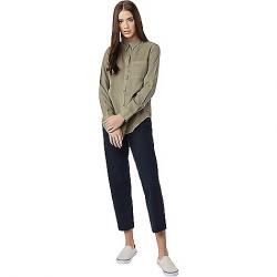 Tentree Women's Fernie LS Button Up Shirt Vetiver Green
