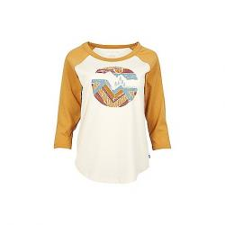 United By Blue Women's Far Away Places 3/4 Sleeve Baseball Tee Antique White