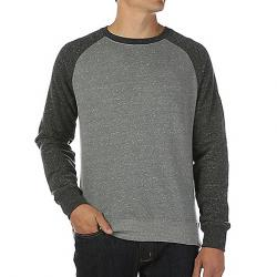 Moosejaw Men's Secret Agent Crew Neck Sweatshirt Heather Black/Heather Grey