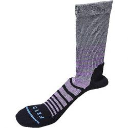 Fits Women's Casual Crew Sock Titanium / Black