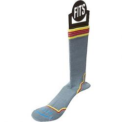 Fits Women's Light Hiker Crew Sock Stormy Weather/Red