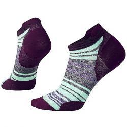 Smartwool Women's PhD Run Ultra Light Striped Micro Sock Bordeaux