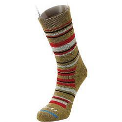 Fits Medium Hiker Crew Sock Dried Herb/Red