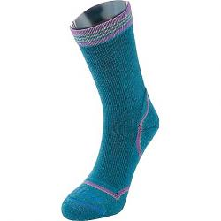 Fits Women's Light Hiker Crew Sock Biscay Bay / Amethyst Orchid