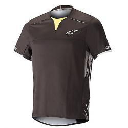 Alpine Stars Men's Drop Pro SS Jersey Black  / Acid Yellow