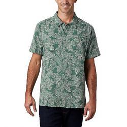 Columbia Men's Lakeside Trail SS Shirt Thyme Green Rad Palms Print