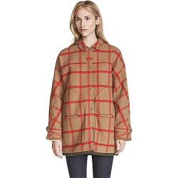 Woolrich Women's Window Pane Cocoon Coat Butterscotch