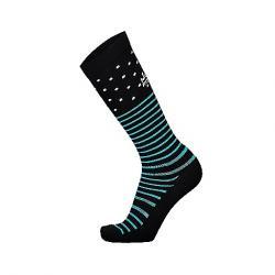 Mons Royale Women's Lift Access Sock Black/White/Tropicana