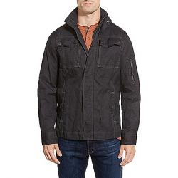 Jeremiah Men's Thorne Coated Canvas Jacket Black