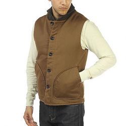Jeremiah Men's Muir Cotton Suede Vest Maple