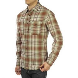 Jeremiah Men's Justus Twist Yarn Brush Twill LS Shirt Mahogany