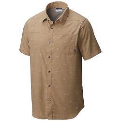 Columbia Men's Pilsner Peak Print SS Shirt British Tan / Compass Print