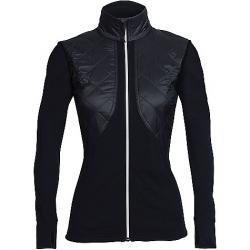 Icebreaker Women's Ellipse LS Zip Top Black / Black / Snow
