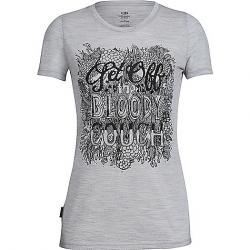 Icebreaker Women's Tech Lite SS Crewe - Graphic Collection Off The Couch / Blizzard Heather