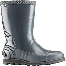 Sorel Women's Joan Rain Short Gloss Boot Graphite / Sea Salt