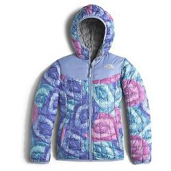 The North Face Girls' Reversible Thermoball Hoodie Grapemist Blue Crystal Print