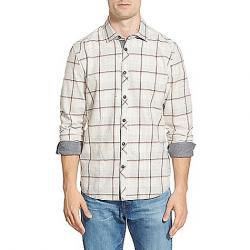 Jeremiah Men's Hartson Nep Slub Heather Twill Shirt Mirage Gray Heather