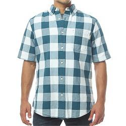 Woolrich Men's Seaport Oxford Yarn-Dye SS Shirt Cadet Blue