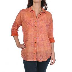 Free People Women's Shore Vibes Buttondown Top Coral