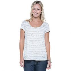 Toad & Co Women's Tissue Crossback SS Tee Egret Line Print