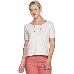 Toad & Co Women's Tissue Crop SS Tee Egret Geo Seed Print