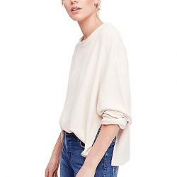 Free People Women's Be Good Terry Pullover Sand