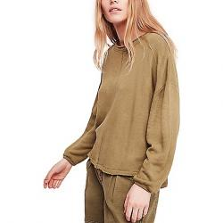 Free People Women's Be Good Terry Pullover Moss