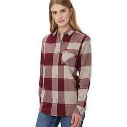 Tentree Women's Kimberly LS Button Up Shirt Burgundy Plaid