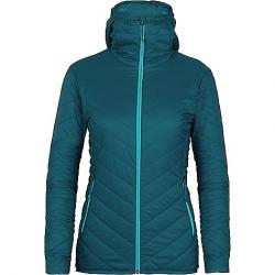 Icebreaker Women's Hyperia Hooded Jacket Kingfisher / Arctic Teal