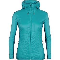 Icebreaker Women's Hyperia Lite Hybrid Hooded Jacket Arctic Teal / Kingfisher