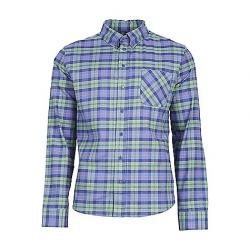 United By Blue Men's Pitchstone Plaid Button Down Shirt Fern Green