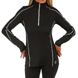 Snow Angel Women's Veluxe Essential Zip-T Black/Silver