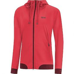 Gore Wear Women's Gore C5 Gore Windstopper Trail Hooded Jacket Hibiscus Pink / Chestnut Red