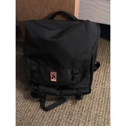 Chrome Black Biking Backpack with Laptop Section