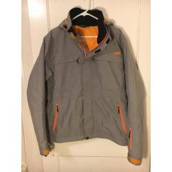 New! GoLite Insulated Ski Jacket, Grey/Orange, Medium