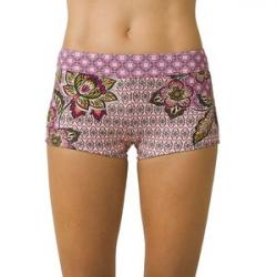 Raya Boyshort Bikini Bottom - Women's Cosmo Pink Fleur D'amour, S - Ex