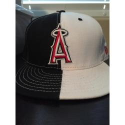 Los Angeles Angels of Anaheim Black and White Cap