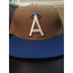 Los Angeles Angels Brown/ Blue Cap