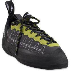 Evolv Defy Kid's Lace Climbing Shoes - 3.5, Charcoal/Lime