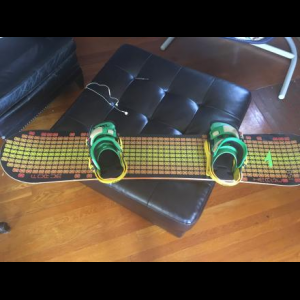 Forum Snowboard and Infidel Bindings